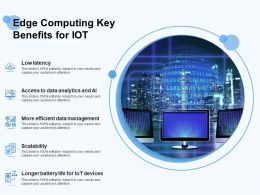 Edge Computing Key Benefits For IOT