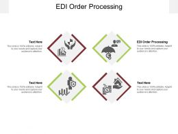 EDI Order Processing Ppt Powerpoint Presentation Pictures Styles Cpb