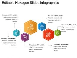 Editable Hexagon Slides Infographics Powerpoint Shapes