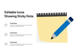 Editable Icons Showing Sticky Note