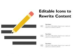 Editable Icons To Rewrite Content