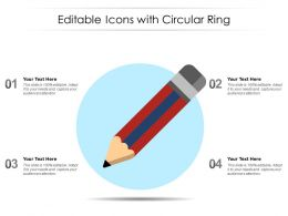 Editable Icons With Circular Ring