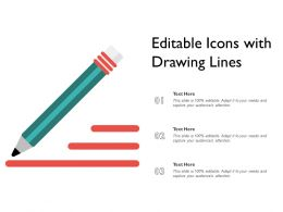 Editable Icons With Drawing Lines