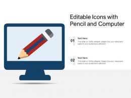 Editable Icons With Pencil And Computer