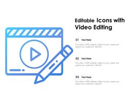 Editable Icons With Video Editing