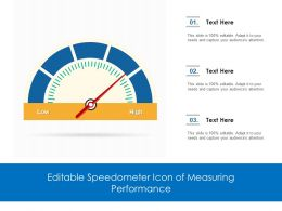 Editable Speedometer Icon Of Measuring Performance