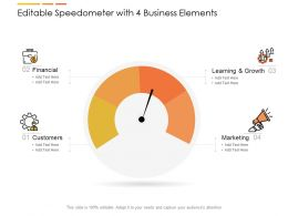 Editable Speedometer With 4 Business Elements