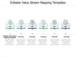 Editable Value Stream Mapping Templates Ppt Powerpoint Presentation Inspiration Professional Cpb