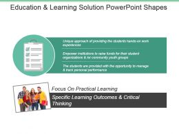 Education And Learning Solution Powerpoint Shapes