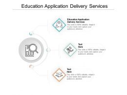 Education Application Delivery Services Ppt Powerpoint Presentation Inspiration Template Cpb
