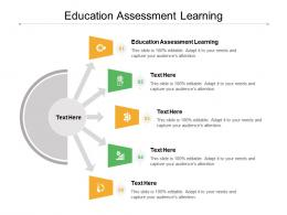 Education Assessment Learning Ppt Powerpoint Presentation Ideas Design Ideas Cpb