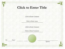 Education Award diploma Certificate Template of Accomplishment completion PowerPoint adults kids