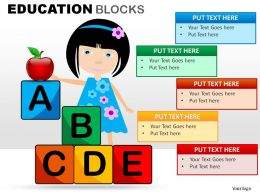 Education Blocks Powerpoint Presentation Slides