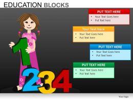 Education Blocks Powerpoint Presentation Slides db