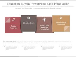 Education Buyers Powerpoint Slide Introduction
