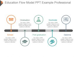 Education Flow Model Ppt Example Professional