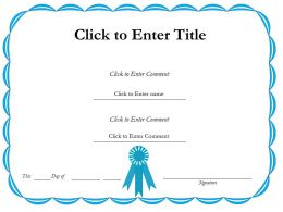 Education graduate Completion diploma Certificate Template of Attainment completion PowerPoint