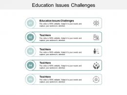 Education Issues Challenges Ppt Powerpoint Presentation File Ideas Cpb