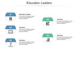 Education Leaders Ppt Powerpoint Presentation Ideas Example Introduction Cpb