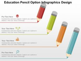 Education Pencil Option Infographics Design Flat Powerpoint Design