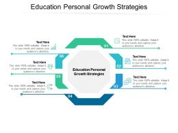 Education Personal Growth Strategies Ppt Powerpoint Presentation File Structure Cpb