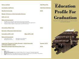 Education Profile For Graduation