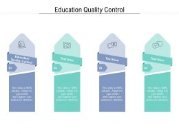 Education Quality Control Ppt Powerpoint Presentation Outline Background Designs Cpb