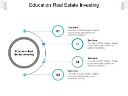 Education Real Estate Investing Ppt Powerpoint Presentation Icon Vector Cpb