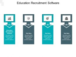 Education Recruitment Software Ppt Powerpoint Presentation Portfolio Gridlines Cpb