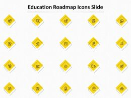 Education Roadmap Icons Slide L1045 Ppt Powerpoint Presentation File