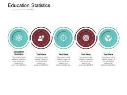 Education Statistics Ppt Powerpoint Presentation Icon Portrait Cpb