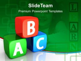 Education Templates For Powerpoint Blocks Success Ppt Themes