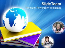 education_templates_for_powerpoint_books_and_globe_future_ppt_Slide01