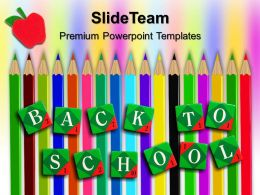 Education Templates For Powerpoint To School Pencils Business Ppt Slide