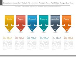 Educational Association Statistic Administration Template Powerpoint Slide Designs Download