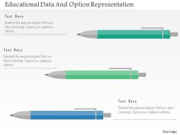 Educational Data And Option Representation Flat Powerpoint Design