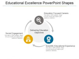 Educational Excellence Powerpoint Shapes