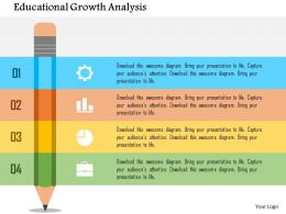 Educational Growth Analysis Flat Powerpoint Design
