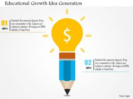 Educational Growth Idea Generation Flat Powerpoint Design