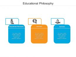Educational Philosophy Ppt Powerpoint Presentation Show Icons Cpb