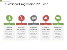 Educational Progression Ppt Icon