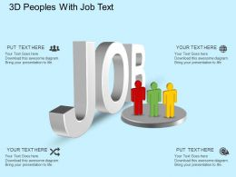 ee 3d Peoples With Job Text Powerpoint Template