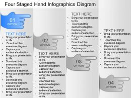 ee Four Staged Hand Infographics Diagram Powerpoint Template