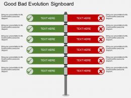 ee Good Bad Evolution Signboard Flat Powerpoint Design