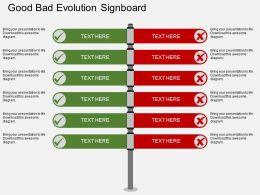 ee_good_bad_evolution_signboard_flat_powerpoint_design_Slide01