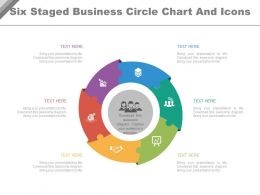 ee Six Staged Business Circle Chart And Icons Flat Powerpoint Design