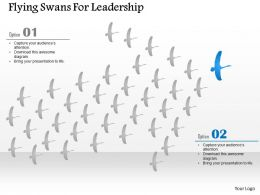 Ef Flying Swans For Leadership Powerpoint Template