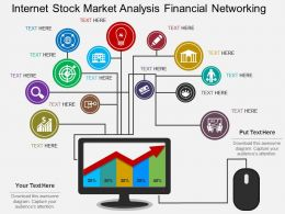 ef Internet Stock Market Analysis Financial Networking Flat Powerpoint Design