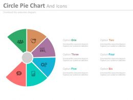 ef Six Staged Circle Pie Chart And Icons Flat Powerpoint Design