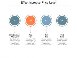 Effect Increase Price Level Ppt Powerpoint Presentation Professional Graphics Example Cpb
